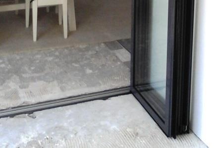Glazen schuifpui voor binnen en buiten