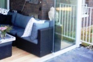 WIndscherm onder balkon Leeuwarden